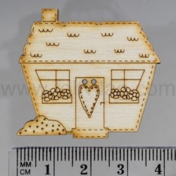 House with flower