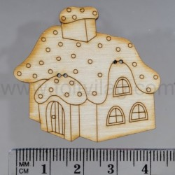House with snowy roof